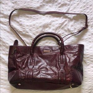 REBECCA MINKOFF leather crossbody - burgundy